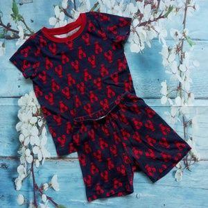 Gymboree Boy Size 5 Cotton Summer Pajamas …